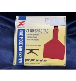 TAG* Z-Tag COW  Z1 No Snag 1PC  25's - Red Code 9053604
