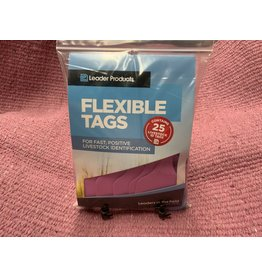 TAG*LEADER 2 PC CALF TAGS 25's - PINK Code 2PSM05MB05-25