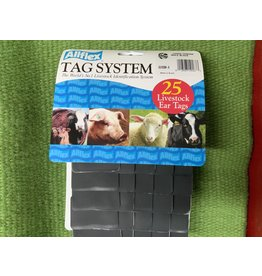 TAG*Allflex Large 2 pc Blank 25s- Black GLBK00