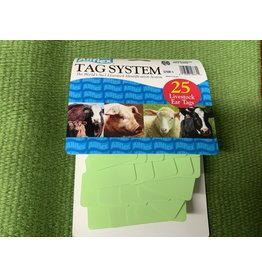 TAG* Allflex Large 2pc Blank 25s  GLF/GSM-G - Green