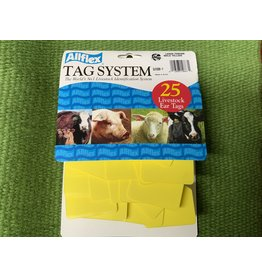 TAG* Allflex Large 2 pc Blank 25s  GLF/GSM-Y - Yellow