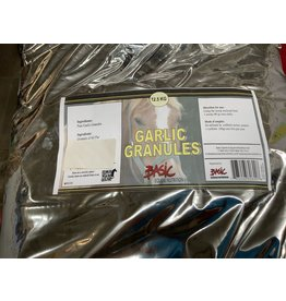 Garlic Granules TEN 622 12.5kg **respiratory disorder & infections, being an expectorant & antibiotic it will expulsion of mucus from the lungs. Garlic cleanses the blood it may help to deter biting flies and mosquitoes.