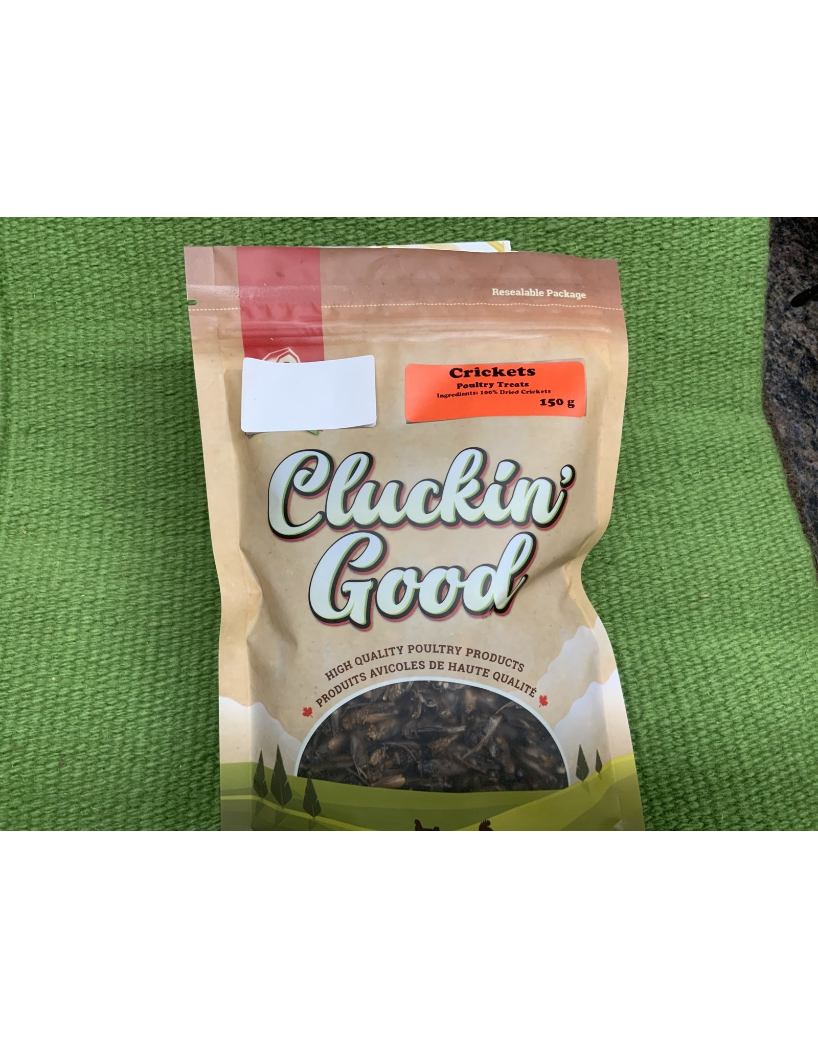 Clucking Good Crickets Poultry Treats 150g 12 bags / per box