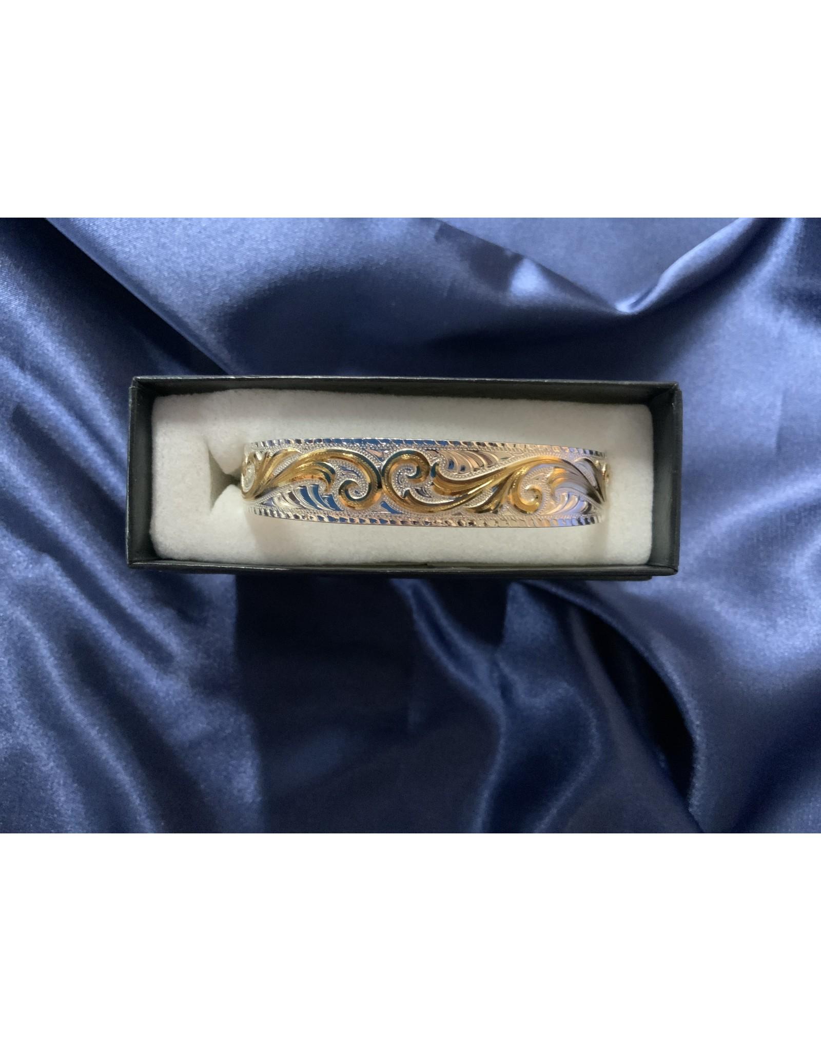 Bracelet 2T Tappered Scroll BC861