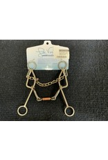 """Bit* Les Vogt 7.5"""" Shank Dogbone Snaffle (Gag).  Mouth Piece Level 3,  1/4"""" w/copper covered dogbone. LVBB11"""