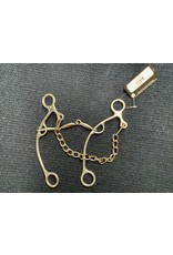 BIT*Lifter Gag Three-Piece Snaffle Mouth 5.25 Cheek 8.75 PCB-93A