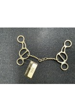 """BIT*Short Shank Gag Twisted Chain Wire  Mouth 5.5"""" Cheek 5.75"""" PCB-943"""