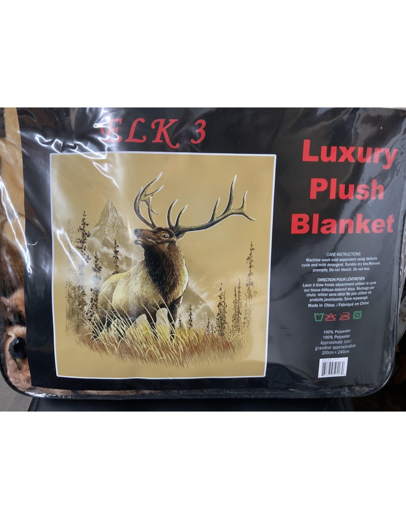 Blanket, queen size, luxury plush - Elk 3