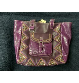 MontanaWest - Purse-Buckle Collection Tote - Purple MW794-8317 PP