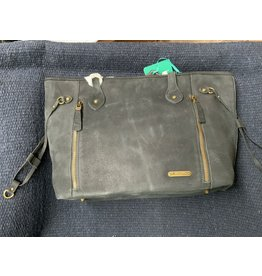 Montana West - Purse - Real Leather Dual Sided - Black - # MWL-G002BK
