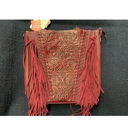 Montana West - Purse - Trinity Ranch Tooled Design Collection- Red- #TR12G-8561