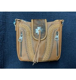 Montana West - Purse - CowHide Collection Crossbody Bag- Brown - # MW955G-9360 BR