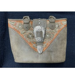Montana West - Purse -Montana West Collection  Tote - Green - # MW795G-8317 GN
