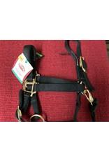 HALT* 1'' Adjustable Chin &Throat Snap Halter for Yearling - Black- 35-7033-BK