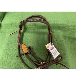 HEAD* Working Headstall Oiled Leather Herman *Ranch Style* 10-0500