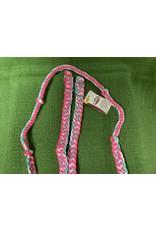 REINS* Braided Barrel Rein - Pink, White, Mint, Sparkle 35-2051-B19