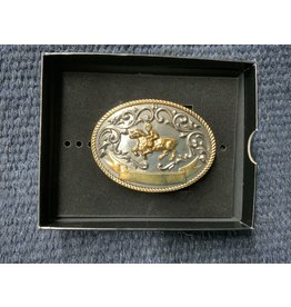 Belt buckle- kids- Mutton Bustin 915550 (gold and silver)