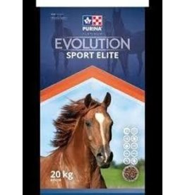 PURINA* EVOLUTION SPORT ELITE 20KG **Feed in conjunction with water     Nutrition for sport, performance horses and more Evolution Elite is a low glycemic, multiparticle feed for equine athletes,  breeding stallions, early gestating mares and hard-keepers