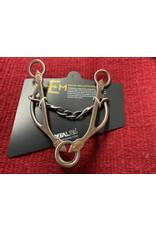 "BIT* Emilie Veillette Barrel Racing Twist and Chain Gag. MP 5 1/8"", CP 7.5"" - 250012-518"