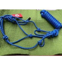 HALT* Yearling Rope Halter w/lead Blue/White 292989-13
