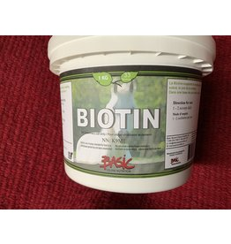 Biotin TEN 880 1KG *** (25 mg per scoop). Water soluble B-group vitamin and is a crucial co-factor in hoof keratination. This vitamin is especially important for the maintenance of hooves and significant for the health of all connective tissue structures