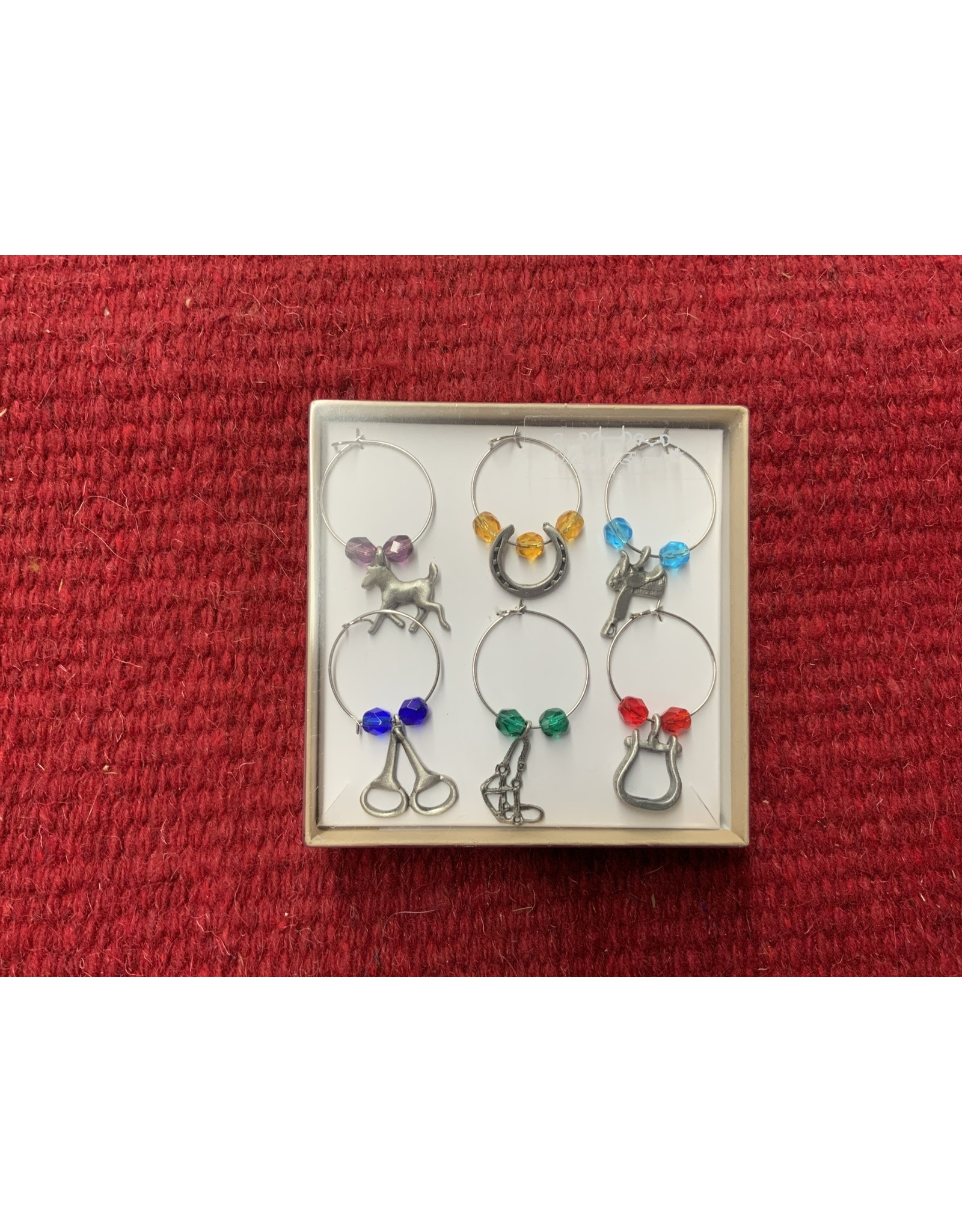 Coloured Wine Glass Charms 911020