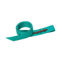 "Nylon Latigo W/Holes 1 3/4 x 60"" - Emerald Green -35500-60-96"