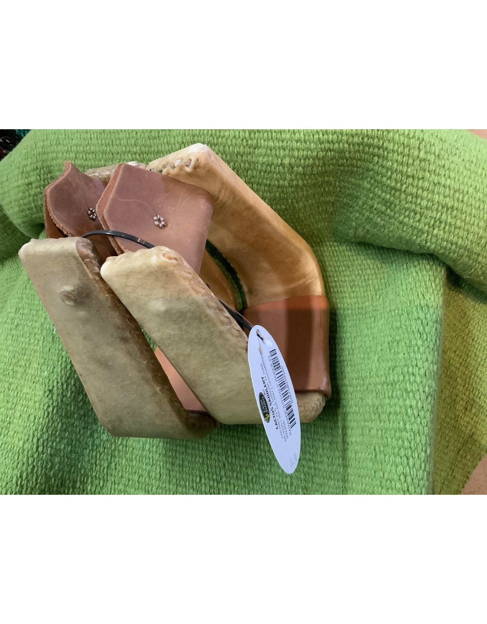 """3"""" Rawhide Stitched Roper Stirrups 30220A"""