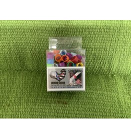 poultry leg band- assorted colors- 100 pack Small 027430