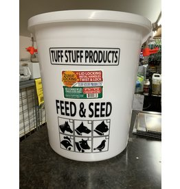 PAIL* TUFFSTUFF feed & seed storage bin w/locking lid 12gal 679155