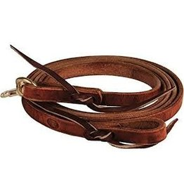 """REIN* NRS 8'-5/8"""" Oiled Harness Leather Flat Reins"""
