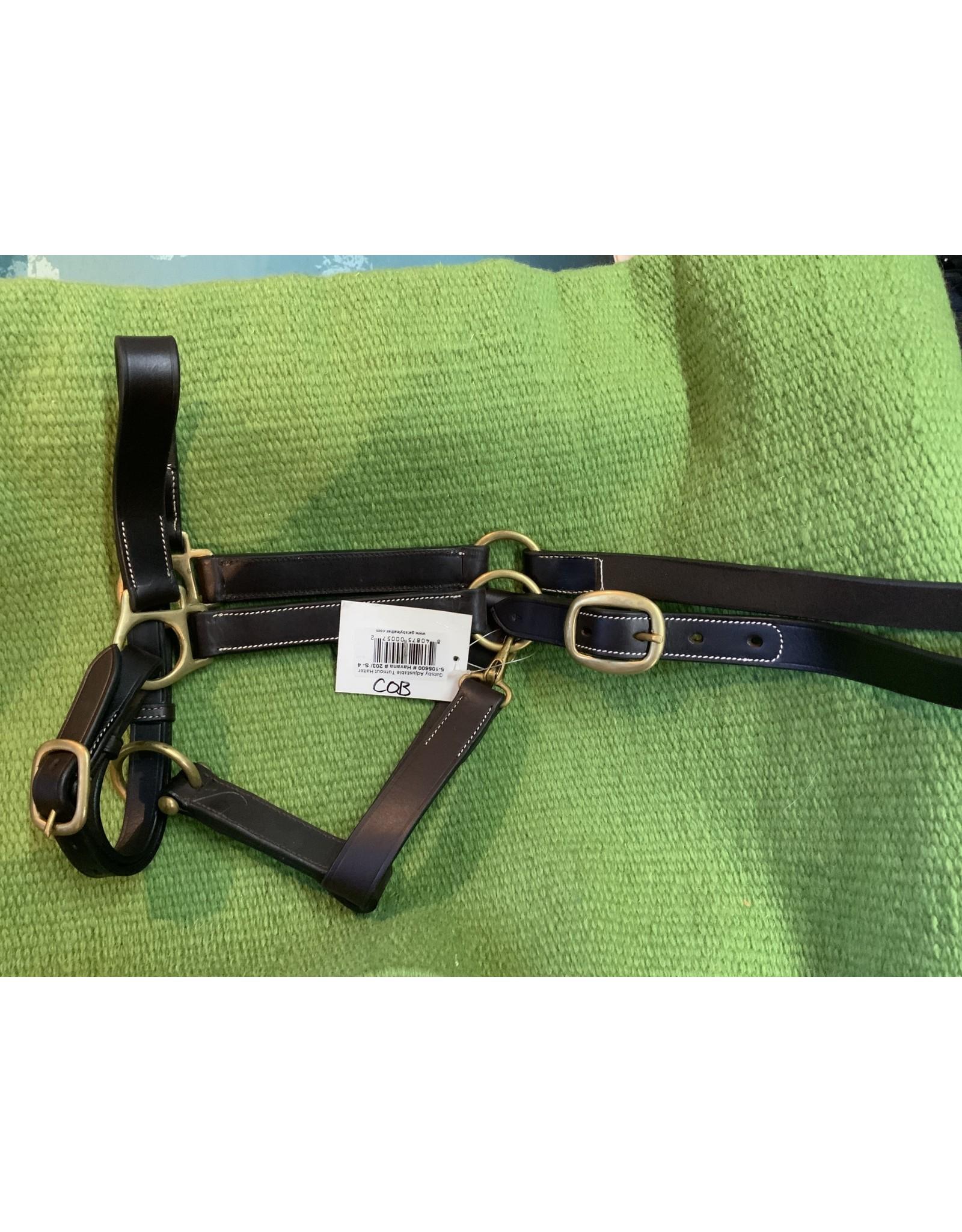Adjustable Leather Halter - COB. Horse GL203-S4C
