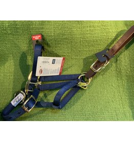 "HALT* Nylon Adjustable Breakaway 3/4"" Weanling / Pony 200-300 lbs 35-1022-NV Navy Blue"