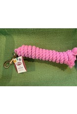 Colored Cotton Lead Ropes 10' - Pink 35-1910-PK
