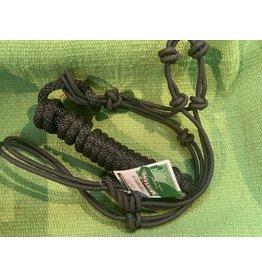Halter* Black Rope Halter w/ Lead Yearling #262818-27