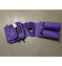 Deluxe Poly Horn Bag With 2 Water Bottles - Purple - 241900-22