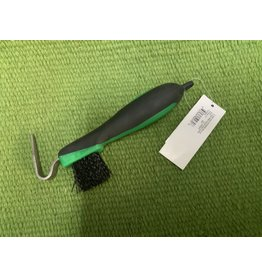 SoftGrip Hoofpick/Brush - Green #374424-12