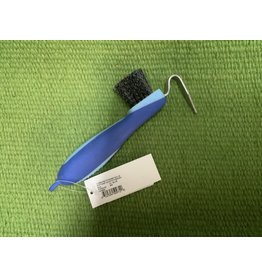 Softgrip Hoofpick/Brush - Blue  #374424-40
