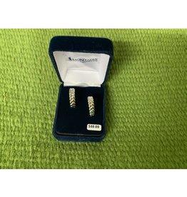 Earrings- Pillowed braid hoop ER4794
