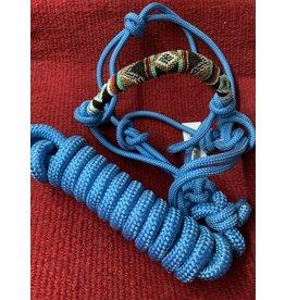 HALT*CL Beaded Rope Halter w/lead Turquoise 292400-19