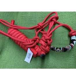HALT*CL Beaded Rope Halter w/lead Red 292400-01