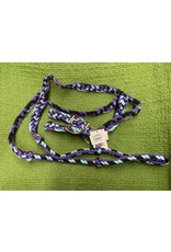 Braided Barrel Rein with Knots (Purple/Blace/Turquoise) 212102 22