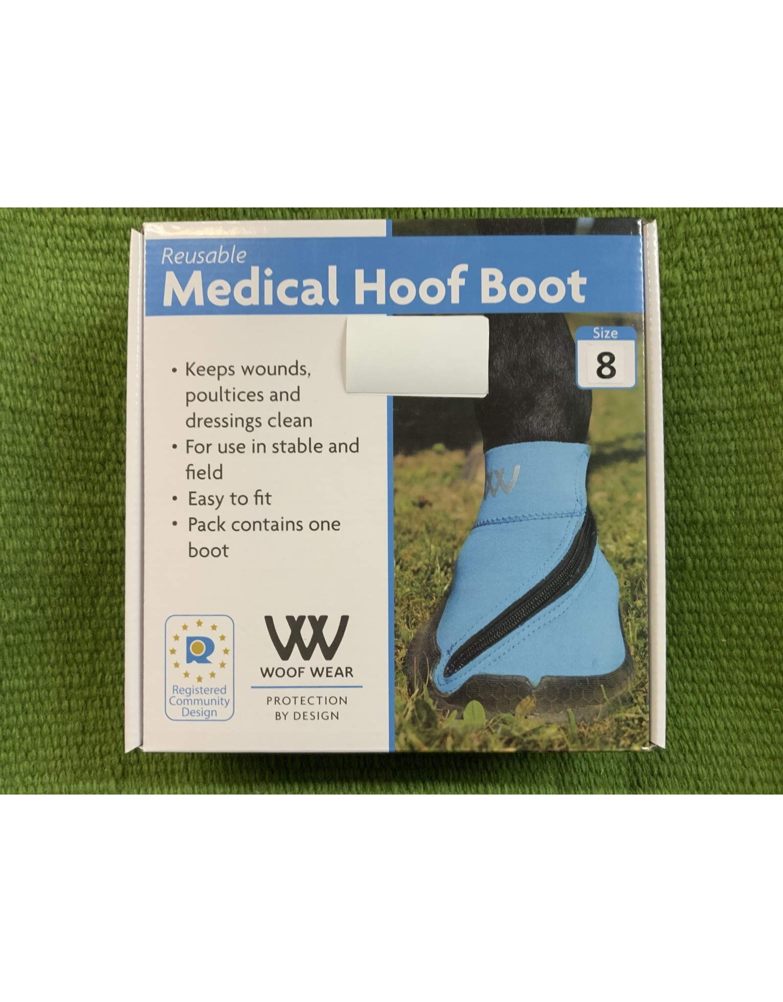 Reusable Medical Hoof Boot (Poultice Boot) - Blue - Size 8 - 717160-22/8 -Woof Wear