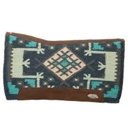 "PAD* Synergy Contoured Saddle Pad 33 x 38"" Wool Blend, Felt Liner Navy/Baltic - 36001-6162-329"