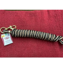 Lead Rope w/ Solid Brass Snap 10' - Diamond Black/Tan/Wheat  35-2100-K2