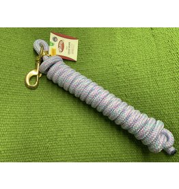 Lead Rope w/ Solid Brass Snap 10' - Mosaic Lt Purple, Lt Blue/ Lt Green 35-2100-408 B/O
