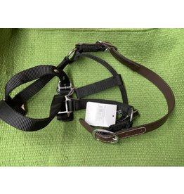 HALT*Halter w/Leather Breakaway - COB - Black - GLBR-C-BK