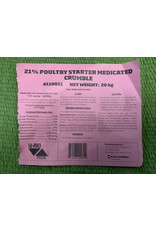 POULTRY - 21% MEDICATED CHICK STARTER - 110021 (C-CAN)
