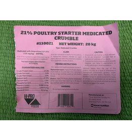 21% MEDICATED CHICK STARTER - 110021 (C-can)