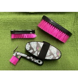 Brush* 4 piece brush set- sugar skull- 68-2340-811-0